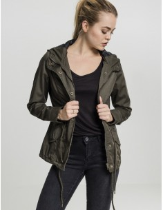 Urban Classics -Ladies Basic Cotton Parka  woman - olive