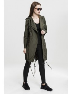 Urban Classics - Ladies Asymetric Parka olive