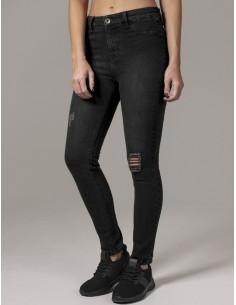 Urban Classics jeans skinny elásticos - black