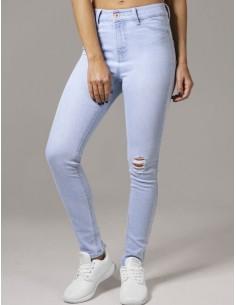 Urban Classics jeans skinny elásticos - bluedenim