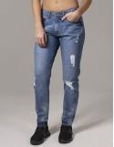 Urban Classics jeans lady boyfriend - bluedenim