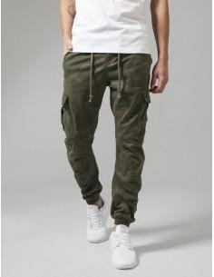Urban classics pantalón cargo premium - camuflaje olive