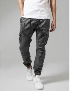 Urban classics pantalón cargo premium - camuflaje gris