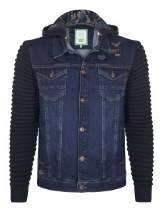 Sir Raymond Tailor chaqueta denim combinada - blue