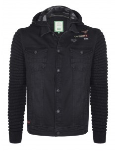 Sir Raymond Tailor chaqueta denim combinada  - black