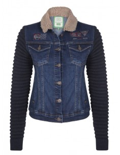 Chupa denim con cuello sherpa Sir Raymond Tailor - blue