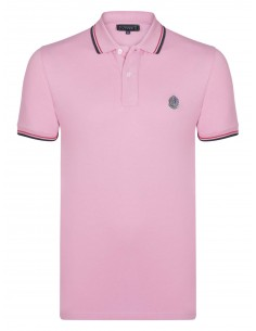 Polo Sir Raymond Tailor logo silver - pink