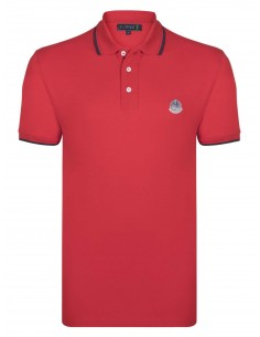 Polo Sir Raymond Tailor logo silver - red