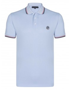 Polo Sir Raymond Tailor logo silver - blue