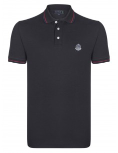 Polo Sir Raymond Tailor logo silver - black