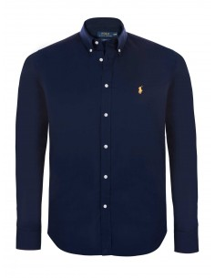 Camisa Polo de hombre slim fit - navy/yellow