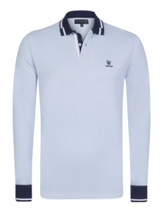 Polo Sir Raymond Tailor manga larga - Blue