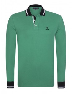 Polo Sir Raymond Tailor manga larga - Green
