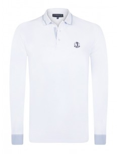 Polo Sir Raymond Tailor manga larga - Blanco