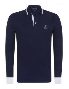 Polo Sir Raymond Tailor manga larga - Navy