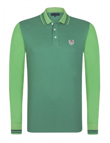 Polo Sir Raymond Tailor color block - green