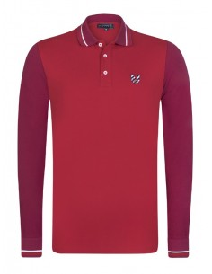 Polo Sir Raymond Tailor color block - red