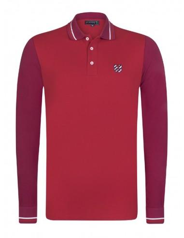 Polo Sir Raymond Tailor color block - red