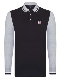Polo Sir Raymond Tailor color block - black/grey