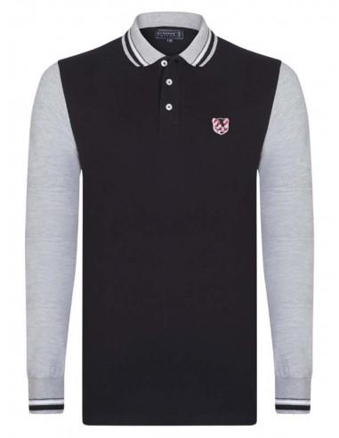 Polo Sir Raymond Tailor color block - black/grey