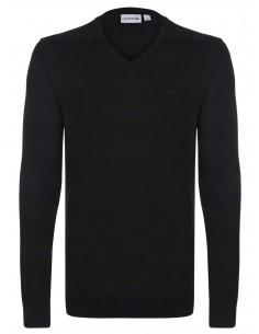 Jersey Lacoste en algodón - negro