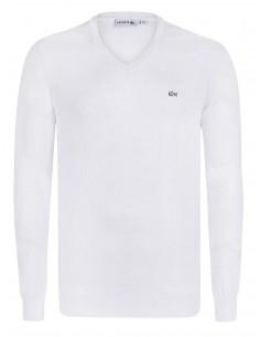 Jersey Lacoste en algodón - blanco