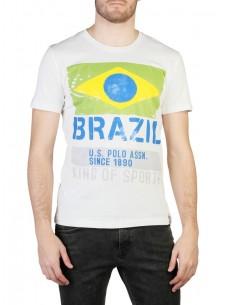 Camiseta US Polo Assn Brazil - blanca