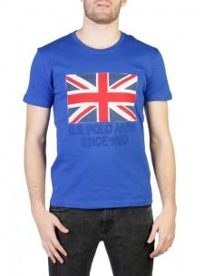 Camiseta US Polo Assn Uk flag - royal