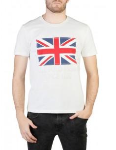 Camiseta US Polo Assn Uk flag - blanca