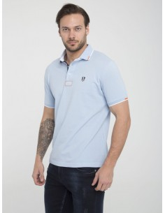 Polo Sir Raymond Tailor manga corta - Baby blue