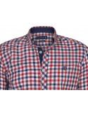 Camisa Sir Raymond Tailor - Rojo y marino
