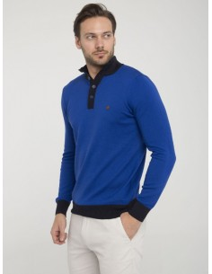 Jersey Sir Raymond half zip - royal navy
