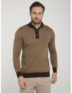 Jersey Sir Raymond half zip - brown