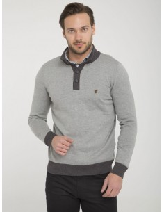 Jersey Sir Raymond half zip - grey