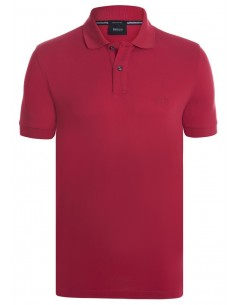 Hugo Boss polo pima cotton - red
