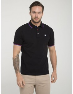 Polo Sir Raymond Tailor manga corta - black