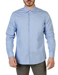 Camisa Trussardi de corte slim - celeste