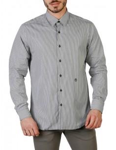 Camisa Trussardi de corte slim - gris