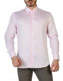 Camisa Trussardi de corte slim - rosa claro