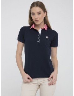 Polo Sir Raymond Tailor woman - navy/pink