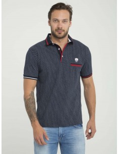 Polo Sir Raymond Tailor manga corta - Navy fantasy