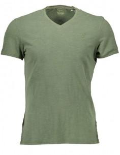 Camiseta Guess para hombre cuello V - army green