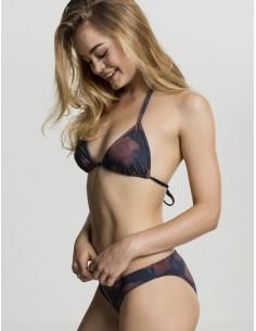 Urban Classics - Bikini Triangle flower red