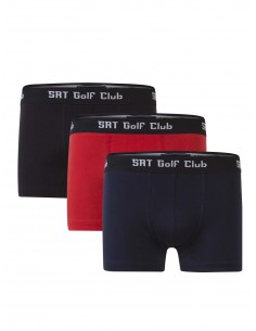 Pack de 3 Boxer Sir Raymond Tailor - Black/Red/Navy