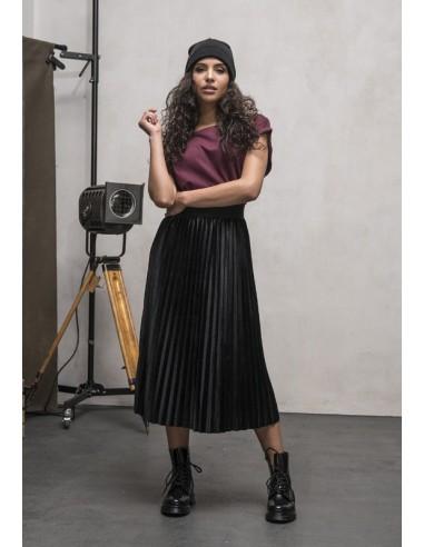 Urban Classics - falda plisada - negra