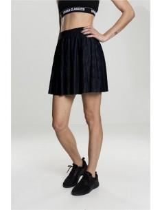 Urban Classics - minifalda plisada mujer - negro