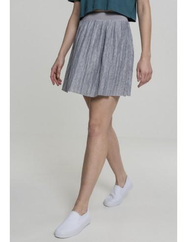 Urban Classics - minifalda plisada mujer - gris