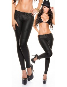Sexy Pantalones Koucla de piel para mujer