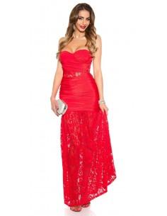Vestido de noche Koucla tul - rojo