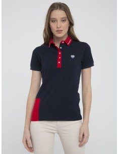 Polo Sir Raymond Tailor color block - navy/red